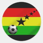 Ghana Black Stars Soccer flag Round Stickers
