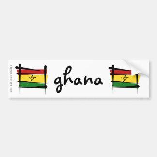 Ghana Brush Flag Bumper Sticker