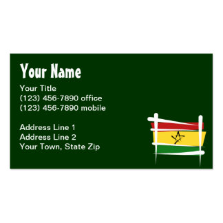 Ghana Brush Flag Business Card