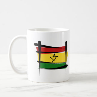 Ghana Brush Flag Coffee Mug
