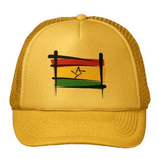 Ghana Brush Flag Hat
