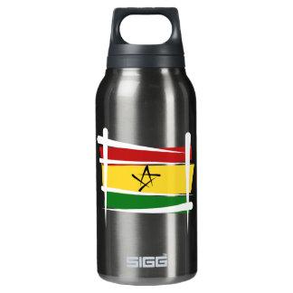 Ghana Brush Flag Insulated Water Bottle