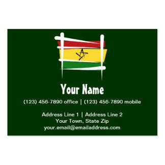 Ghana Brush Flag Large Business Card