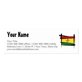 Ghana Brush Flag Mini Business Card