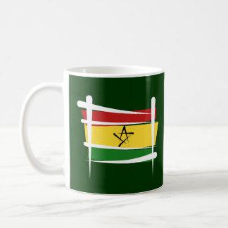 Ghana Brush Flag Classic White Coffee Mug