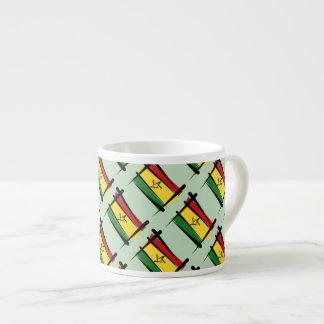 Ghana Brush Flag 6 Oz Ceramic Espresso Cup
