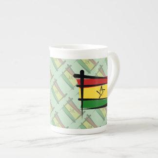 Ghana Brush Flag Tea Cup