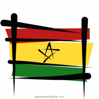 Ghana Brush Flag Statuette
