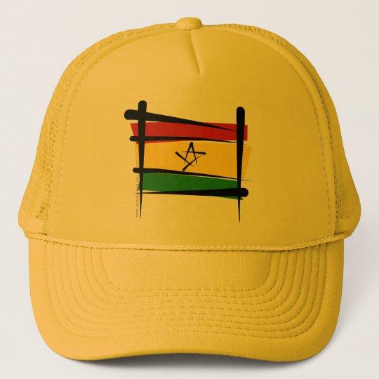 Ghana Brush Flag Trucker Hat