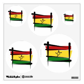 Ghana Brush Flag Wall Decal