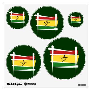 Ghana Brush Flag Wall Sticker