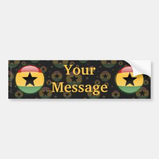 Ghana Bubble Flag Bumper Sticker