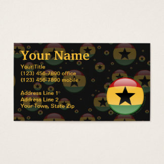 Ghana Bubble Flag Business Card