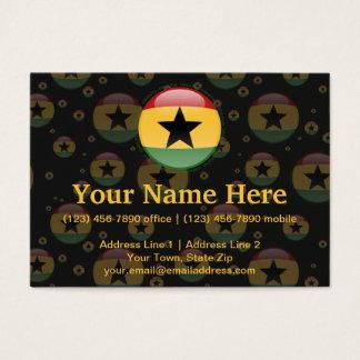 Ghana Bubble Flag Business Card