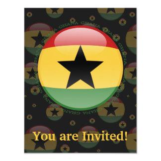 Ghana Bubble Flag Card