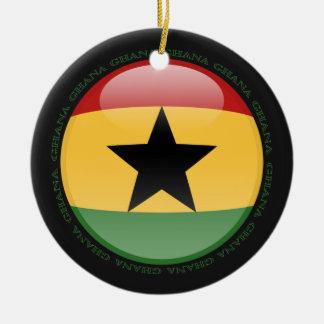 Ghana Bubble Flag Ceramic Ornament