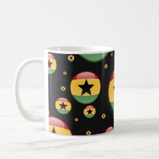 Ghana Bubble Flag Coffee Mug