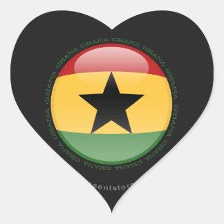 Ghana Bubble Flag Heart Sticker
