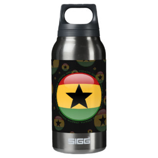 Ghana Bubble Flag Insulated Water Bottle