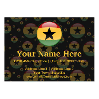 Ghana Bubble Flag Large Business Cards (Pack Of 100)