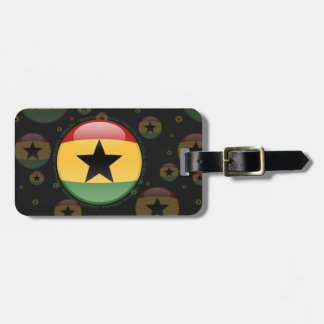 Ghana Bubble Flag Luggage Tag