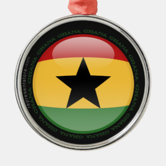 Ghana Bubble Flag Metal Ornament