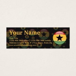 Ghana Bubble Flag Mini Business Card