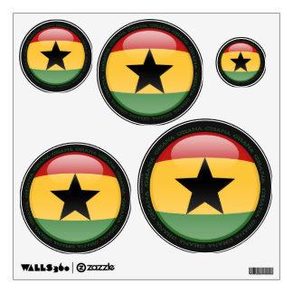 Ghana Bubble Flag Wall Sticker