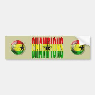 Ghana Champions Ghanian soccer bumper sticker