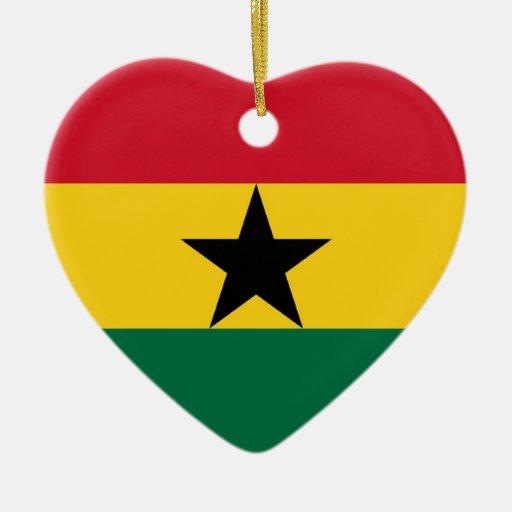 Decorations For Christmas In Ghana : Ghana double sided heart ceramic christmas ornament zazzle