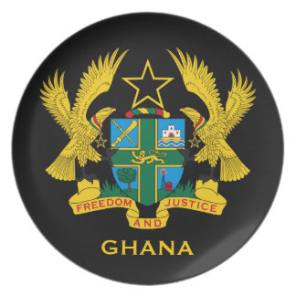 Ghana* Coat of Arms Collector's Dinner Plates