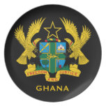 Ghana* Coat of Arms Collector's Melamine Plate