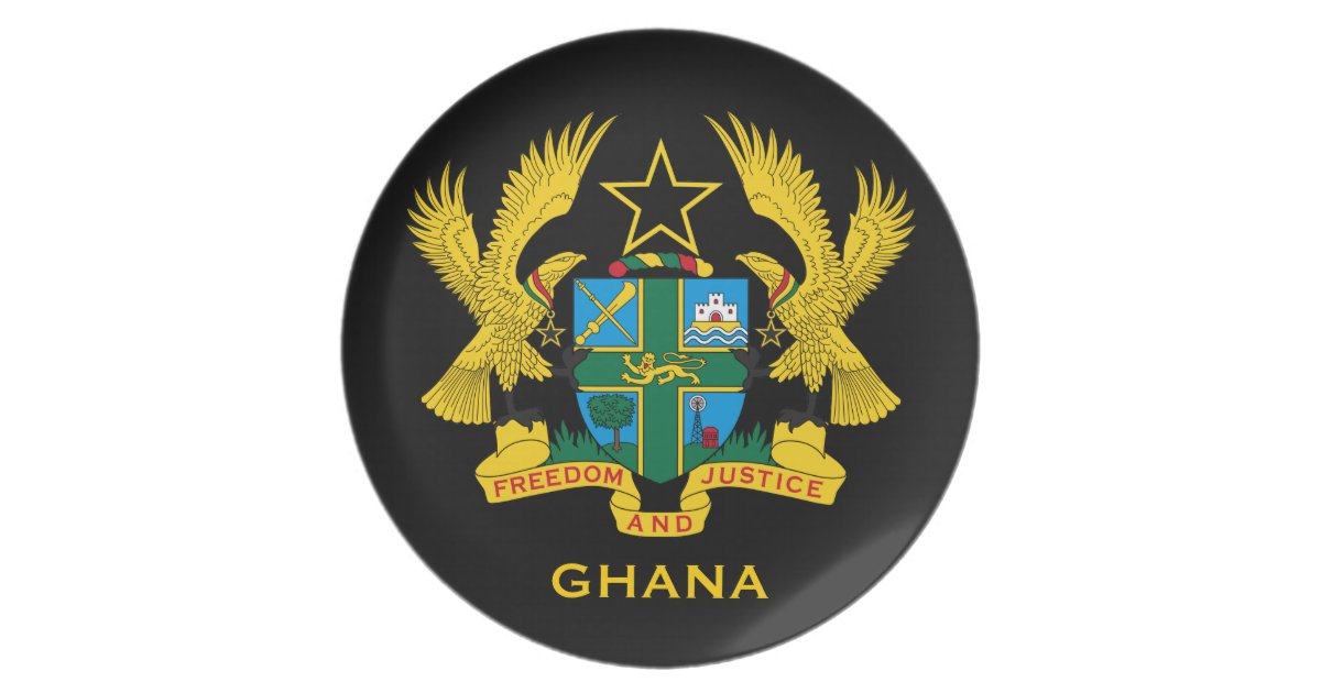 Ghana* Coat of Arms Collector's Melamine Plate | Zazzle