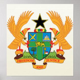 Ghana Coat of Arms detail Poster