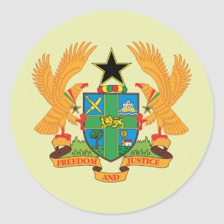 Ghana Coat of Arms detail Sticker