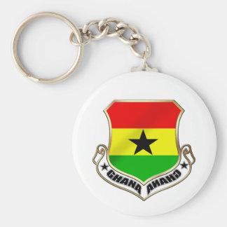 Ghana coat of arms Ghanaian crest badge Basic Round Button Keychain