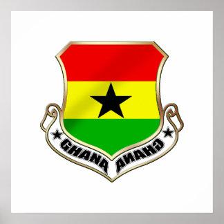 Ghana coat of arms Ghanaian crest badge Poster