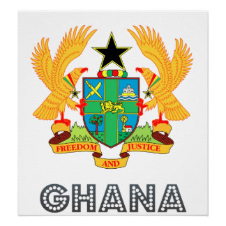 Ghana Coat of Arms Poster