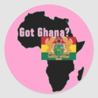 Ghana Coat of arms T-shirt And Etc Classic Round Sticker