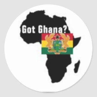 Ghana Coat of arms T-shirt And Etc Round Stickers