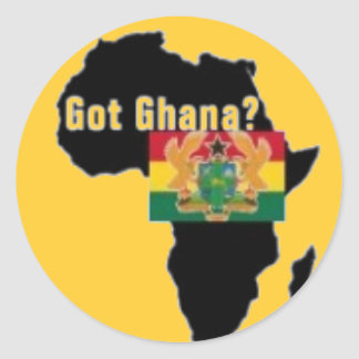 Ghana Coat of arms T-shirt And Etc Round Sticker