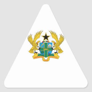 Ghana Coat of Arms Triangle Sticker