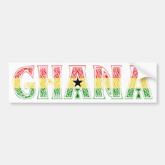 Ghana Colors design! Bumper Sticker