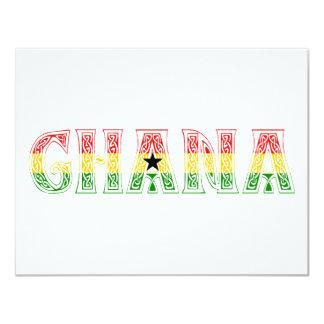 "Ghana Colors design! 4.25"" X 5.5"" Invitation Card"