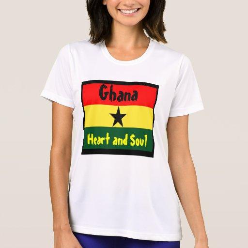 Ghana-corazón y alma camisetas