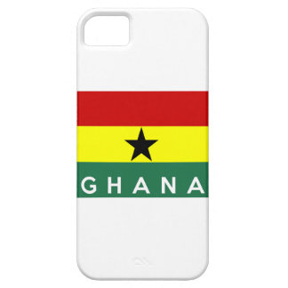 ghana country flag text name iPhone 5/5S case