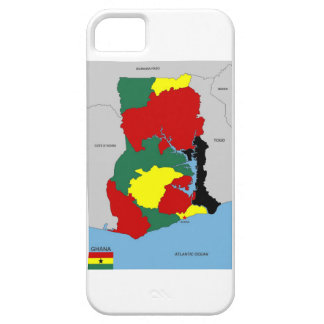 ghana country map flag iPhone 5/5S cases