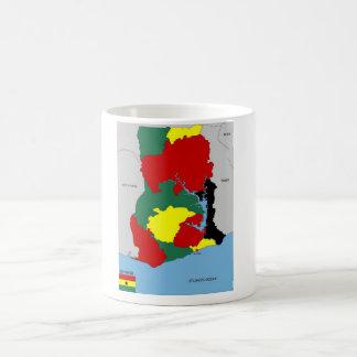 ghana country map flag classic white coffee mug