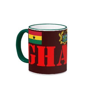 GHANA* Crest and Flag Coffee Mug