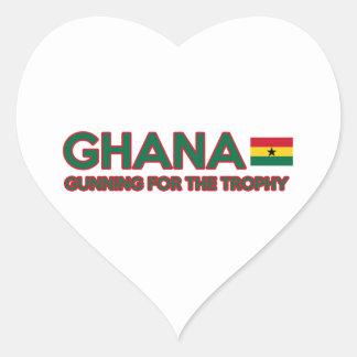 Ghana design heart sticker